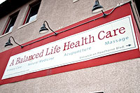 A Balanced Life Health Care sign